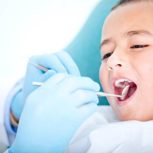 Boy at the dentist